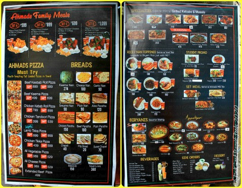 Baguio Ahmad Brothers Cafe, Halal Foods, Kebab, Tandoori, Grills and Halal Pizza 2020 menu