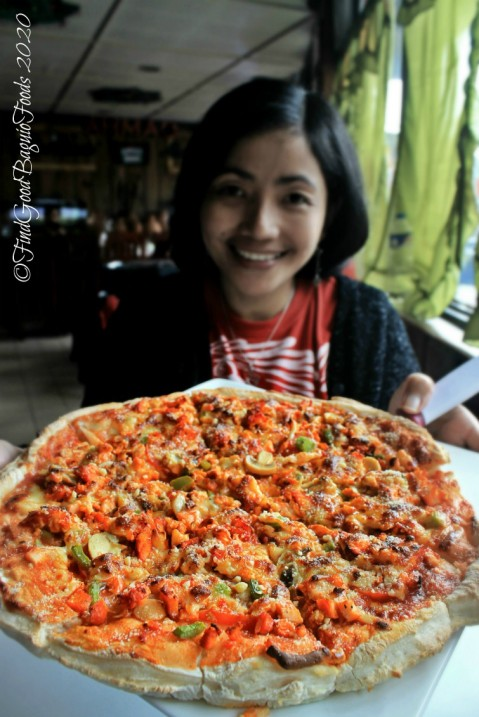 X having pizza at Baguio Ahmad Brothers Cafe, Halal Foods, Kebab, Tandoori, Grills and Halal Pizza