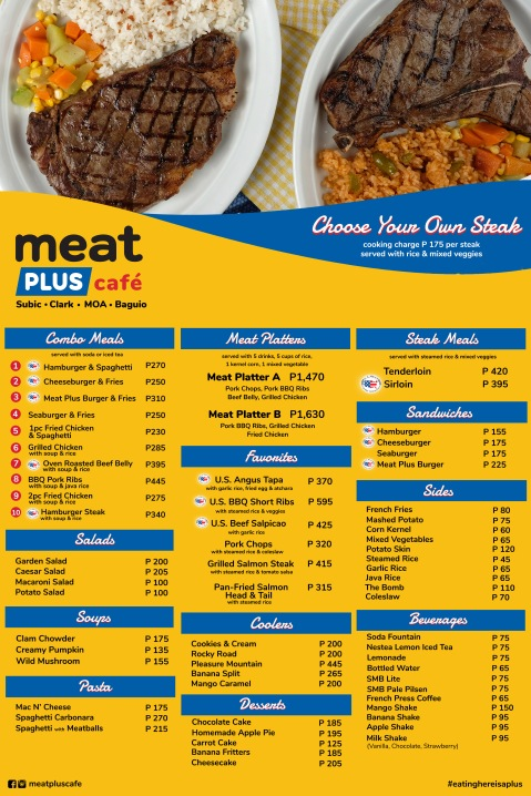 Baguio Meat Plus Cafe 2020 menu