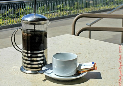 Baguio Meat Plus Cafe 2020 French press coffee