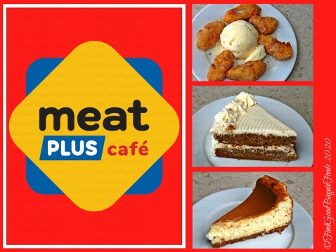 Baguio Meat Plus Cafe 2020 desserts - banana fritters, carrot cake, and cheesecake
