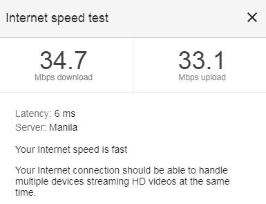 Converge internet speed test 2020