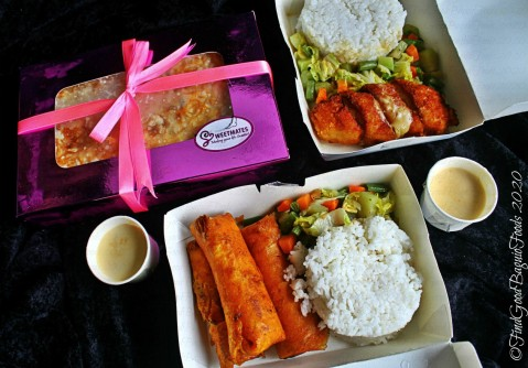 Baguio Sweetmates Cakes 2020 Cassava cake, cordon bleu rice meal, creamy chicken lumpia rice meal