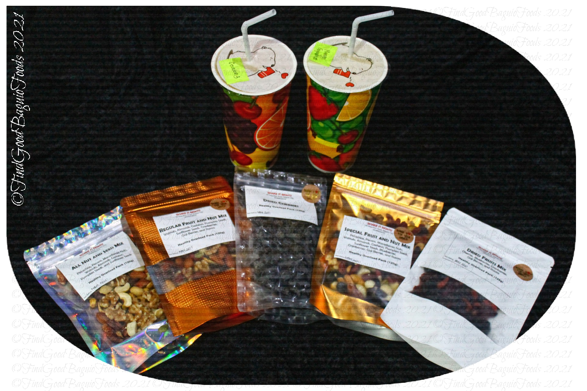 Baguio Shake It Right 2021 Trail mix and fruit shakes