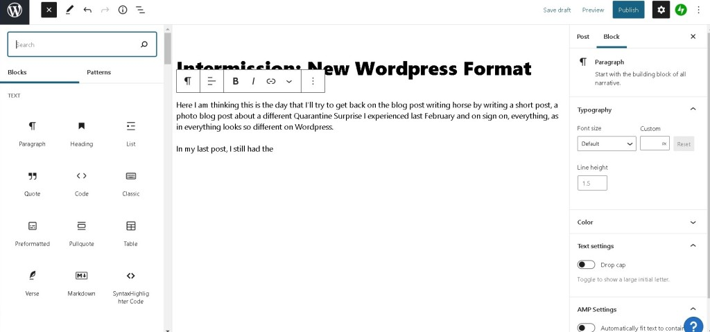 Baguio WordPress Editor new interface 2021